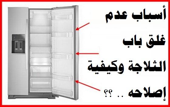 تلف باب الثلاجة